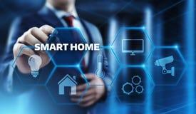 Système de contrôle intelligent de domotique Concept de réseau Internet de technologie d'innovation images libres de droits