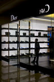 Système de Dior dans le mail des Emirats Image libre de droits