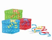 système de empaquetage de cadeau Image libre de droits