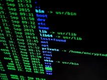 Système de fichiers d'Unix Photos libres de droits