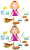 système de fille de produits alimentaires illustration libre de droits