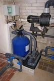 Système de filtration de piscine photo stock