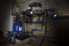 Système de filtration de piscine images stock