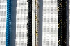 Système de la corde du yacht Images stock