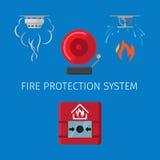Système de lutte anti-incendie illustration libre de droits