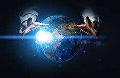 Système de mise en réseau de globe Photographie stock libre de droits