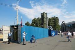 Système de missiles de récipient Images libres de droits