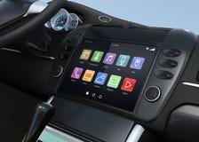 Système de multimédia futé d'écran tactile pour l'automobile Photographie stock libre de droits