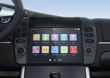 Système de multimédia futé d'écran tactile pour l'automobile Images libres de droits