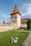Système de mur de fortification dans Bardejov, Slovaquie Images stock