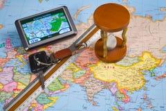 Système de navigation de GPS Photo stock
