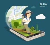Système de navigation mobile Illustration Stock