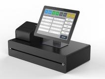 Système de point de vente pour la gestion de magasin illustration de vecteur