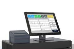 Système de point de vente pour la gestion de magasin illustration libre de droits