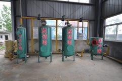 Système de purification de biogaz images stock