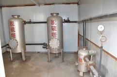 Système de purification de biogaz photos libres de droits