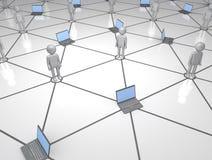 Système de réseau informatique de gens et illustration de vecteur