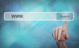 Système de recherche et concept d'Internet image libre de droits