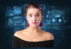 Système de reconnaissance des visages images stock