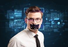Système de reconnaissance des visages photos libres de droits