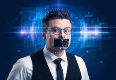 Système de reconnaissance faciale photographie stock libre de droits