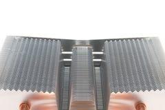 Système de refroidissement de radiateur pour un processeur puissant images stock
