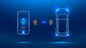 Système de sécurité intelligent de voiture Photos libres de droits