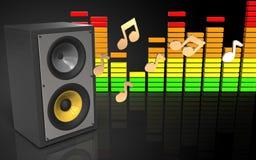 système de son audio du spectre 3d Photos libres de droits