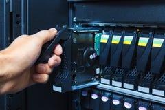 Système de stockage au centre de traitement des données Photographie stock libre de droits