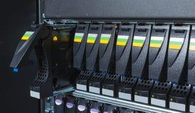 Système de stockage au centre de traitement des données Photographie stock
