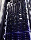 Système de stockage d'unité de disque dur dans le datacenter Images stock