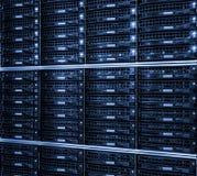Système de stockage d'unité de disque dur dans le datacenter Images libres de droits