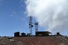 Système de téléphone portable dans les montagnes de balle de l'Ethiopie Photos stock