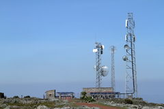 Système de téléphone portable dans les montagnes de balle de l'Ethiopie Images stock