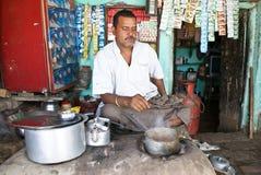Système de thé en Inde Photos stock