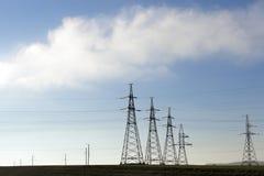 Système de transmission de l'électricité Photographie stock libre de droits