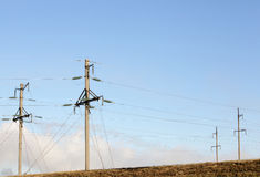 Système de transmission de l'électricité Photos stock