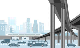 Système de transport dans la ville Photos libres de droits