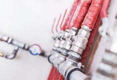 Système de tuyauterie à la maison photos stock
