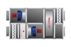 Système de ventilation avec la roue thermique Image stock