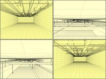 Système de ventilation sur le vecteur de plafond Photo libre de droits