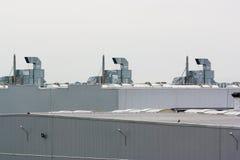 Système de ventilation sur une usine photo stock