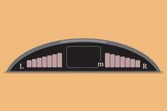 Système de voiture de Parktronic dans une conception plate Illustration de vecteur illustration de vecteur