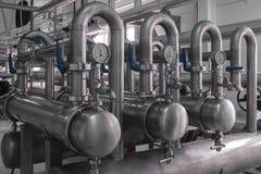 Système des filtres à l'usine d'équipements Image libre de droits