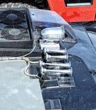 Système des klaxons sur le camion de lutte contre l'incendie photo stock