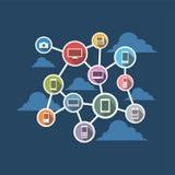 Système distribué Connectivité d'appareils sans fil Images libres de droits