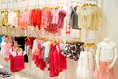 Système du vêtement des enfants Photos libres de droits