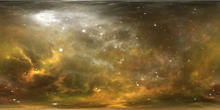 Système et nébuleuse stellaires de réalité virtuelle Panorama, carte de l'environnement 360 HDRI Projection d'Equirectangular, pa Photo stock