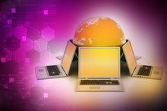Système global de mise en réseau Photographie stock libre de droits
