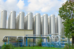 Système industriel de traitement des eaux usées pour la purification d'eau photos libres de droits